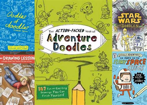 doodle and draw book to doodle 6 unconventional drawing books for