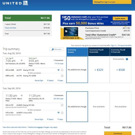 united airlines booking 618 664 san francisco to venice italy incl