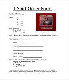 size t shirt template t shirt order form template 21 free word pdf format