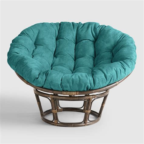 Papasan Chair porcelain micro suede papasan chair cushion world market