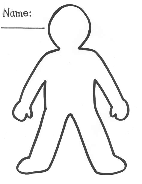 8 Best Images Of Printable Cut Out Person Person Cut Out Template Printable Paper People Person Template For Kindergarten