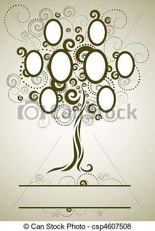 Vector Of Vector Family Tree Design With Frames And Autumn Leafs Csp4607508 Search Clip Vector Family Tree Design With Frames And Autumn Leafs Place For Text