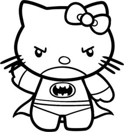 hello kitty batman coloring pages how to draw batman hello kitty step by step characters