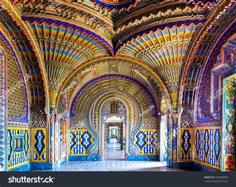 peacock room italy reggello italy sep 20 the colorful peacock room in sammezzano castle on sep 20 2015 in