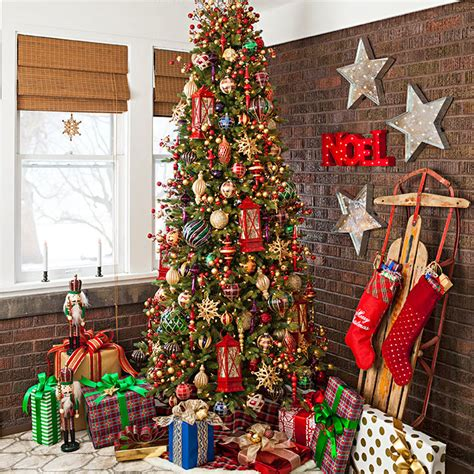 decorating a christmas tree to look old fashioned tree decorating ideas