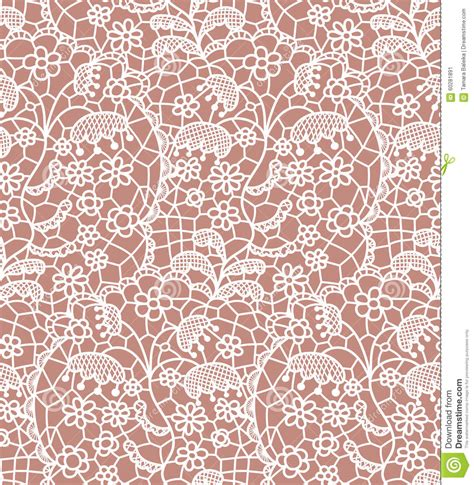 seamless pattern lace lace seamless pattern with flowers cartoon vector