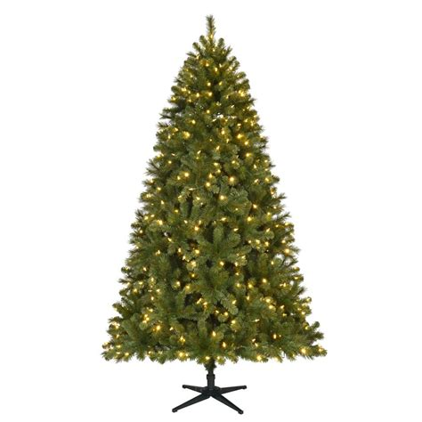 reviews home accent welsley spruce christmas tree tree home accents ft pre lit led wesley spruce artificial tree