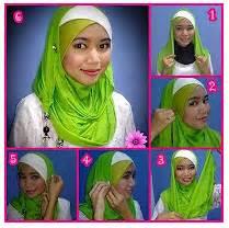 tutorial jilbab wisuda silang cara memakai shawl gypsi silang