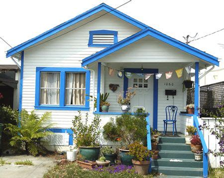 blue house white trim trim color white house with blue bitty bungalow