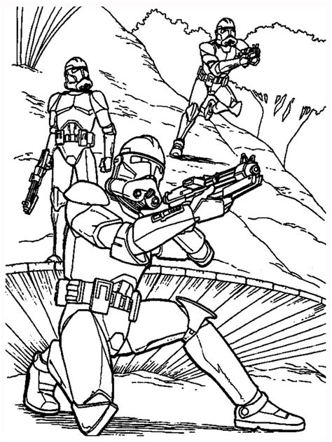 Clone Wars Coloring Pages Wars 7 Coloring Pages