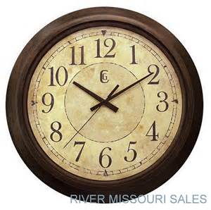 Wall Clocks Wall Clock Large 14 Quot Modern Antique Style Brown Beige