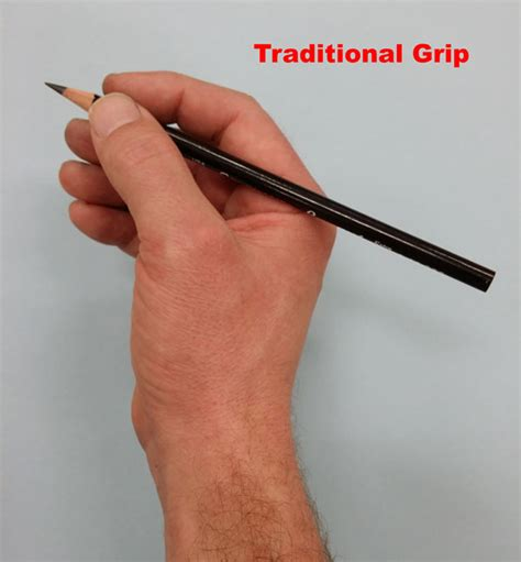 Traditional Pencil 5 grips for holding a pencil for drawing my favorite