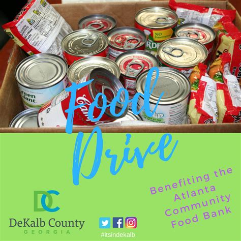 officials sponsor food drive to benefit dekalb residents