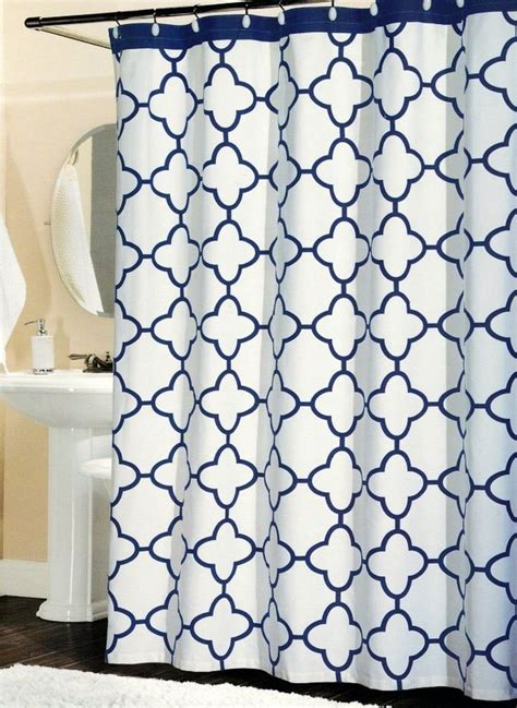 navy lattice curtains 1000 ideas about navy shower curtains on pinterest