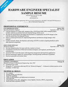 Computer Hardware Engineer Resume Format Resume Engineers And Sample Resume On Pinterest