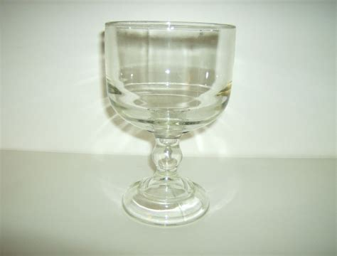 Clear Glass Pedestal Bowl vintage pedestal bowl heavy glass clear from