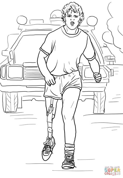 Coloring Pages Terry Fox | terry fox run coloring page free printable coloring pages