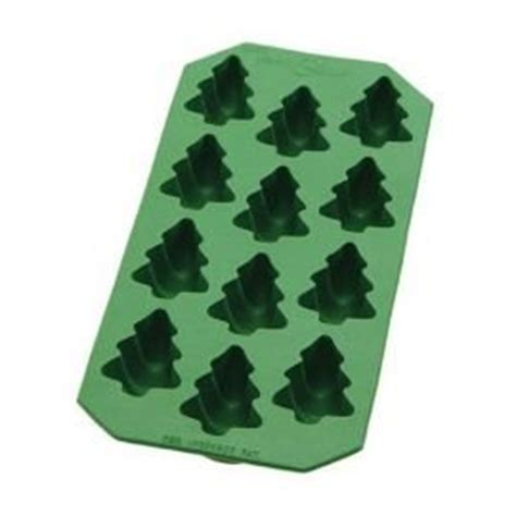 ice cube christmas tree tree pine cube tray rubber jello mold kitchen dining