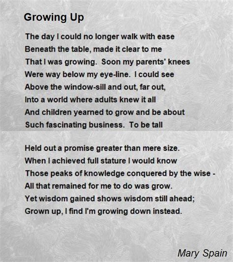 as knows it an exceptional child grows up books growing up poem by spain poem