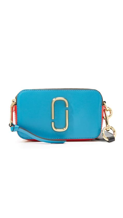 Marc Snapshot Tas Sling Bag marc snapshot colorblock bag in blue lyst