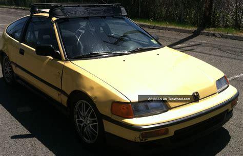 honda crx   yellow   swap