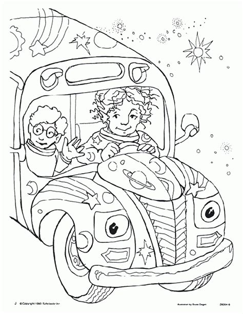 the magic school bus coloring pages coloring home