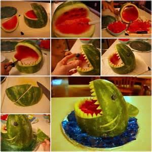 Cool Ideas For Home Decor Food Art Diy Watermelon Shark