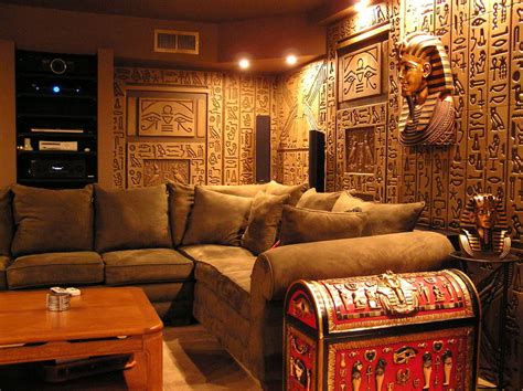 egyptian decorations for home egyptian tomb home theater photos media family room