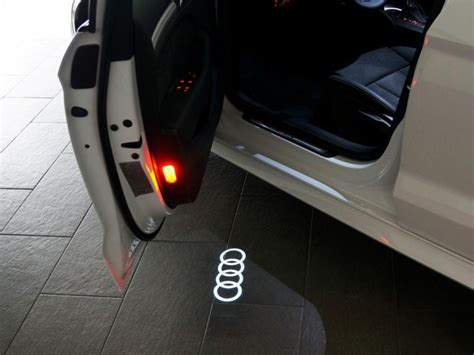 audi rings door light official led courtesy lights with audi logo now available