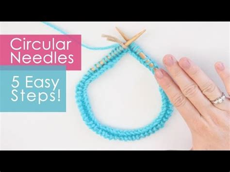 how to knit in the with circular needles how to knit on circular needles in 5 easy steps knitting
