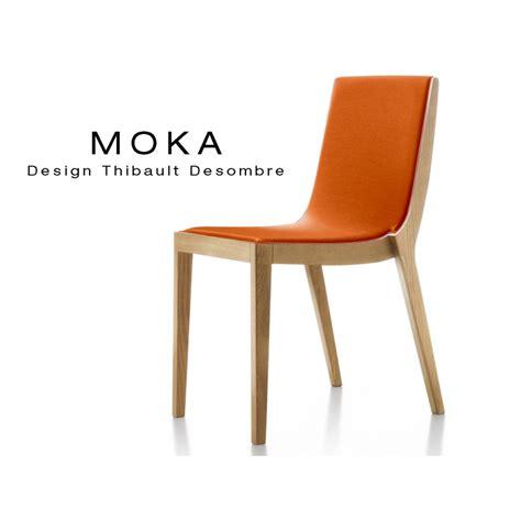 design chaise chaises design bois moka assise et dossier garnis