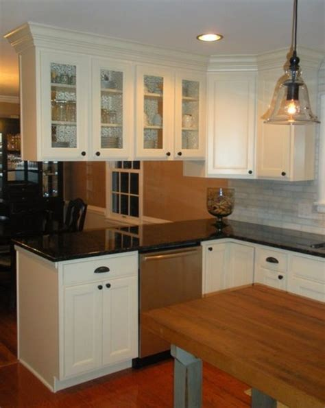 How To Install Backsplash Tile In Kitchen overhead cabinets above island or peninsula