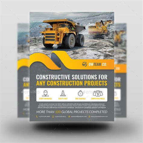 construction flyer templates construction flyer vol 5 by owpictures graphicriver