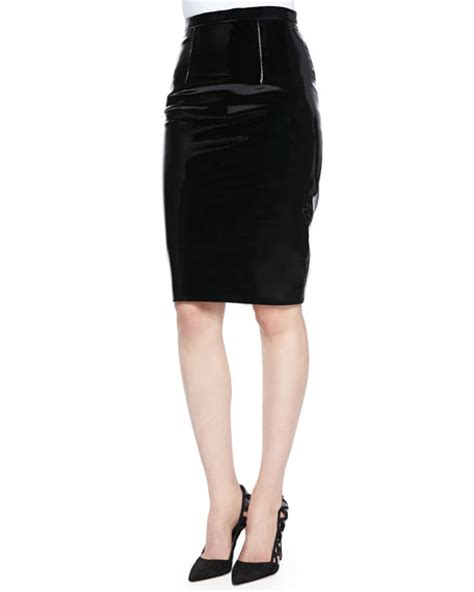 christopher patent leather pencil skirt