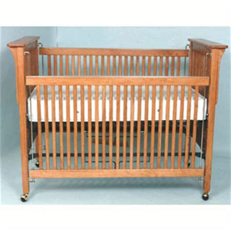 mission baby crib plan woodworking plans
