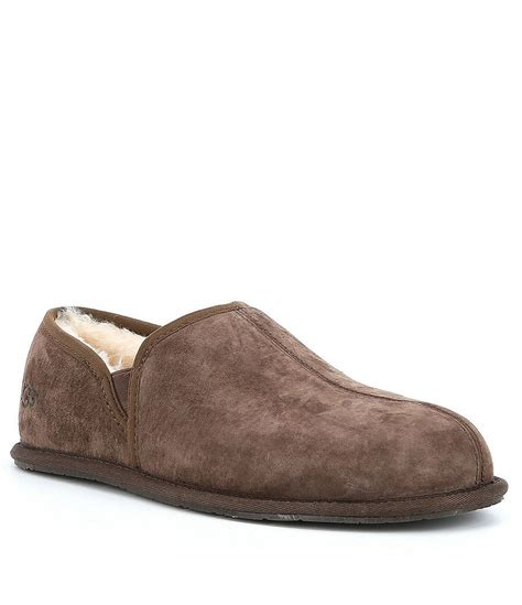 ugg suede slippers ugg 174 s scuff water resistant suede romeo ii slippers