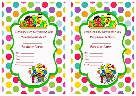 printable birthday invitations sesame street sesame street birthday invitations birthday printable