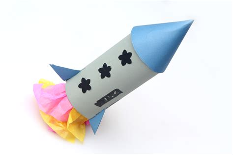 How To Make Rocket Out Of Paper - how to make a rocket with a paper towel with pictures