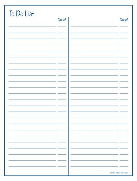 free printable lined paper with columns lined two column to do list free printable organized