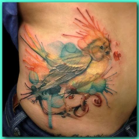 watercolor tattoo vancouver wa watercolor watercolor hybrid of a canary finish