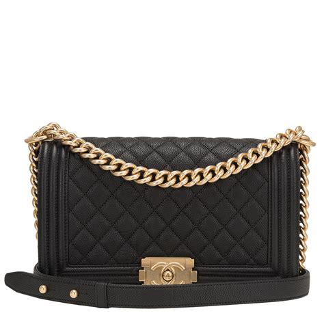 Chanel Medium chanel black quilted caviar medium boy bag world s best
