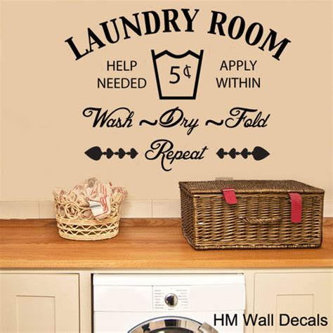 The Laundry Room Removable Wall Sticker   Temple & Webster
