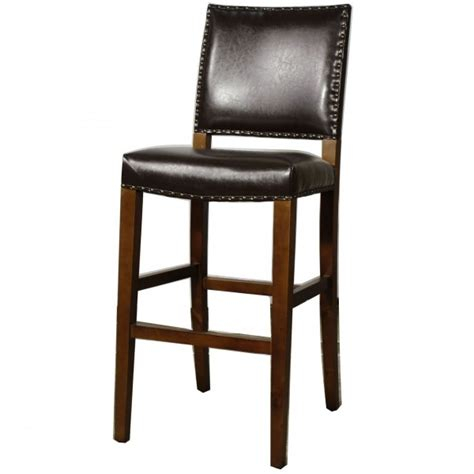 Counter Height Leather Stools by Rowan Leather Bar Height Stool