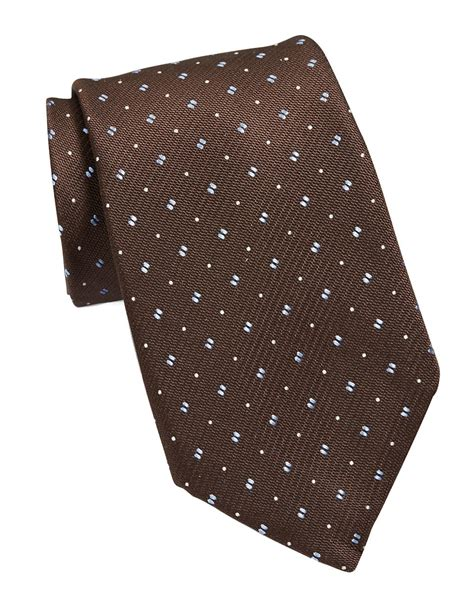brown pattern tie michael michael kors patterned silk tie in brown for men