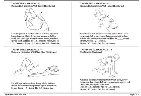 physical therapist recommended exercises for healing diastasis recti baby postpartum