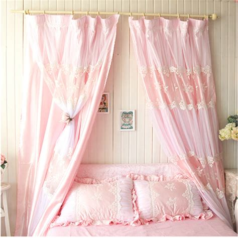 romantic curtains bedroom 2pcs 1 5 2 2m bedroom curtain embroidery romantic curtains