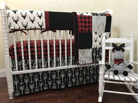 Baby Boy Deer Crib Bedding Baby Boy Bedding Set Adrian Deer Baby Bedding Buffalo
