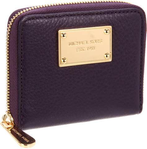 Mk Sml Wallet michael michael kors jet set small zip around wallet in purple lyst