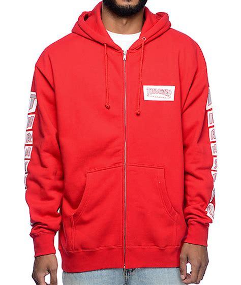 Thrasher Zipper Hoodie thrasher boxed logo zip up hoodie zumiez