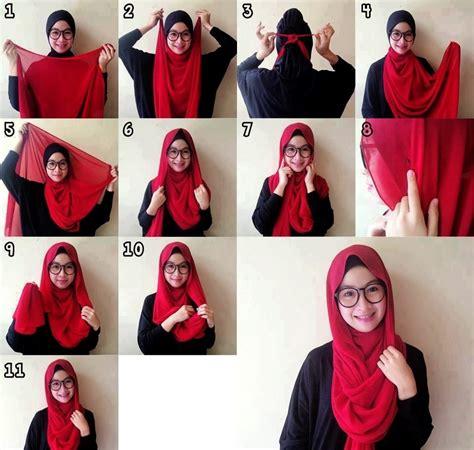 tutorial hijab buat yang berkacamata karena cewek berkacamata itu manis dan imut inilah 7